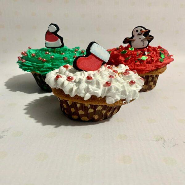 Cup cakes navideños